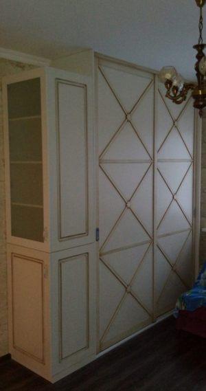 Классический шкаф купе эмаль+патина Рубцовск