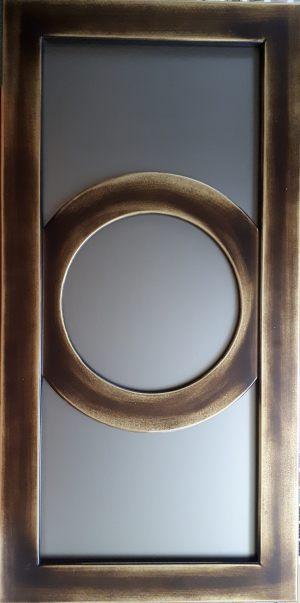 Фасад с фигурной филенкой эмаль+золотая патина Рубцовск