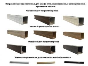 Направляющие однопосные для шкафа купе ламинированные, шпонированные, крашенные эмалью Рубцовск