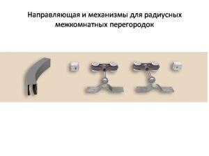 Направляющая и механизмы верхний подвес для радиусных межкомнатных перегородок Рубцовск