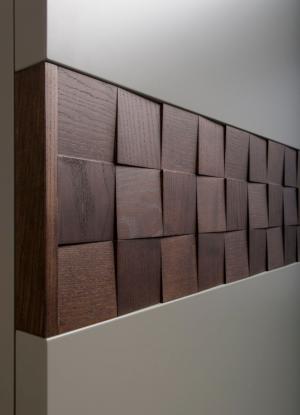 Вставка в двери с накладными квадратами шпон Рубцовск